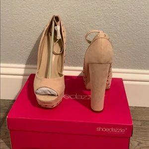 Shoedazzle.com nude platform heel